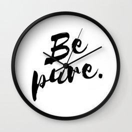 Be pure Wall Clock