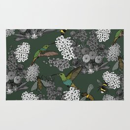 Hummingbirds and Bees (don't let them fade away) Rug