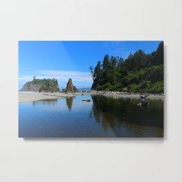 A Magnificent Beach Scene Metal Print