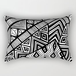 Original Geometric ink-pen print Rectangular Pillow