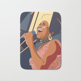 Aretha Franklin Portrait Bath Mat