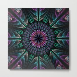 Magical dream flower, fractal abstract Metal Print