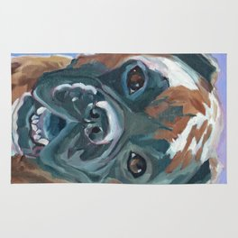 Boone the Boxer Dog Portrait Rug