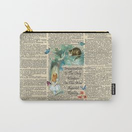 Alice In Wonderland Quote - Imagination - Dictionary Page Carry-All Pouch