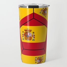 Soccer ball with Spanish flag Travel Mug