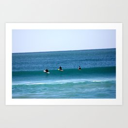 Surfers at Wanda Beach Art Print
