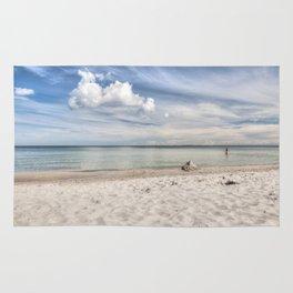 Dream beach Sea Ocean Summer Maritime Navy clouds Rug