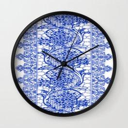 Sapphire Blue Lace Wall Clock