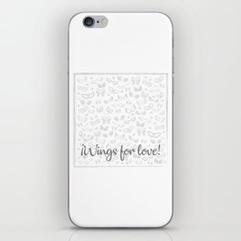 Wings for love iPhone Skin