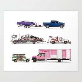Trucks & Tows Art Print