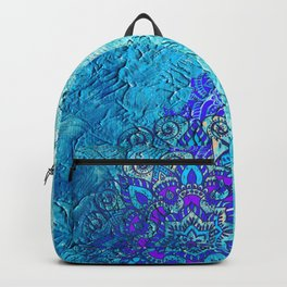 V13 Colored Floral Abstract ART Painting Backpack