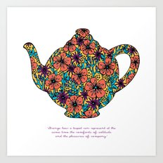 Teapot Warmth Art Print
