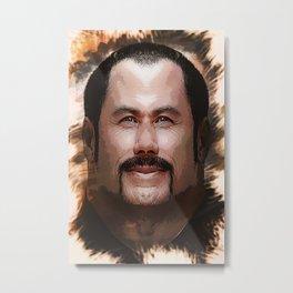 John Travolta - Caricature Metal Print