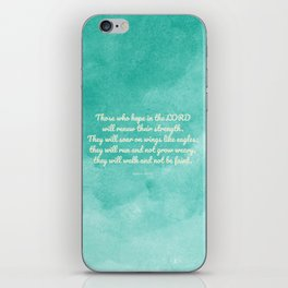 Hope in the Lord Bible Verse, Isaiah 40:31 iPhone Skin