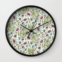 Tropical Rainforest pattern Wall Clock