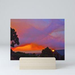 Smoky Sunset Bay Mini Art Print