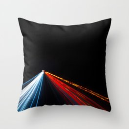 Two Way Traffic Lights Throw Pillow