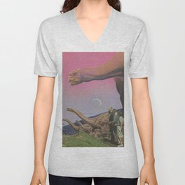 Looking at the past Unisex V-Neck