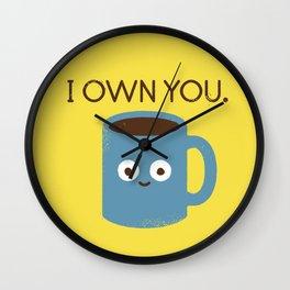 Coffee Talk Wall Clock