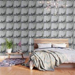 New York City Skyline Gray Texture Wallpaper