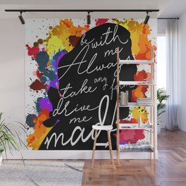 Wuthering Heights Quote Wall Mural