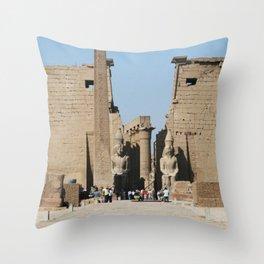 Temple of Luxor, no. 12 Throw Pillow