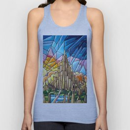 Asgard stained glass style Unisex Tank Top
