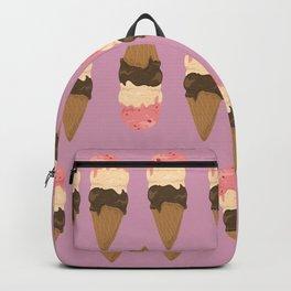 neapolitan ice cream pattern, millennial pink Backpack