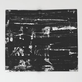 Distressed Grunge 102 in B&W Throw Blanket