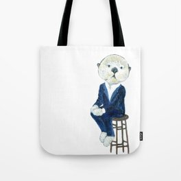 Business Casual Otter Tote Bag