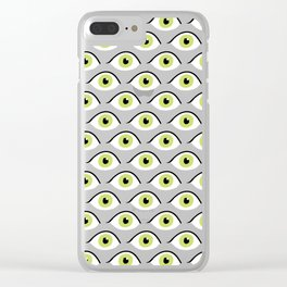 eye liner open Clear iPhone Case