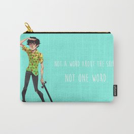 Not One Word Carry-All Pouch