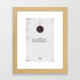 Blow Minimalist Framed Art Print