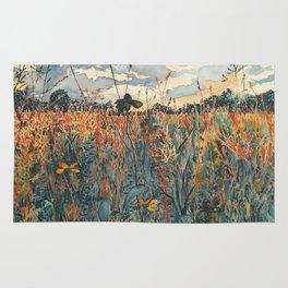 Wildflowers in Velvet Rug