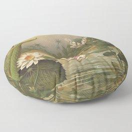 Water Plants Floor Pillow