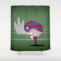 rugby Shower Curtains featuring Rugby by Osvaldo Casanova