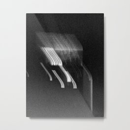 Being at the Drive-In B/W Metal Print