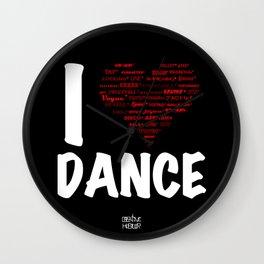 I Heart Dance(white) Wall Clock