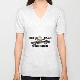 God Damn Winchesters Unisex V-Neck