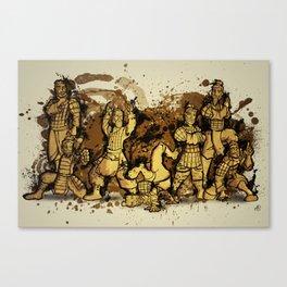 Terracotta Dance Crew Canvas Print