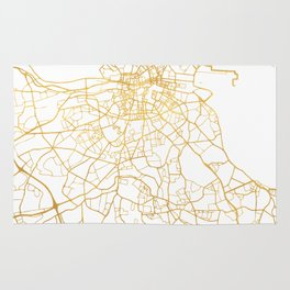DUBLIN IRELAND CITY STREET MAP ART Rug
