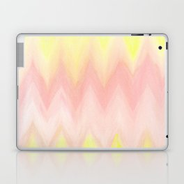 Geometrical blush pink yellow watercolor ikat pattern Laptop & iPad Skin