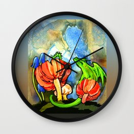 The Dragon and the Caterpillar Wall Clock