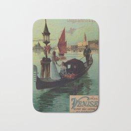 Paris Venice Victorian romantic travel Bath Mat