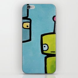 Robot - Recognizing You Through Time iPhone Skin