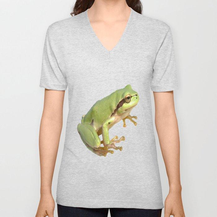 European Tree Frog Unisex V-Neck