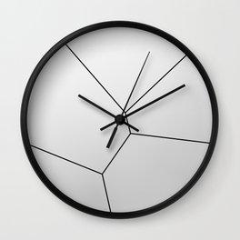 MNML BRKN SLVR Wall Clock