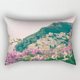 Flowers in Positano, Italy on the Amalfi Coast Rectangular Pillow