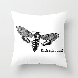 Built Like a Moth Throw Pillow