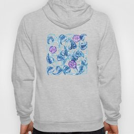 Ipomea Flower_ Morning Glory Floral Pattern Hoody